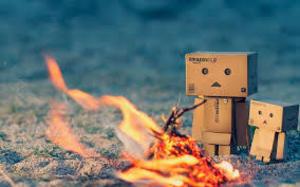 ストーンサークル 焚き火