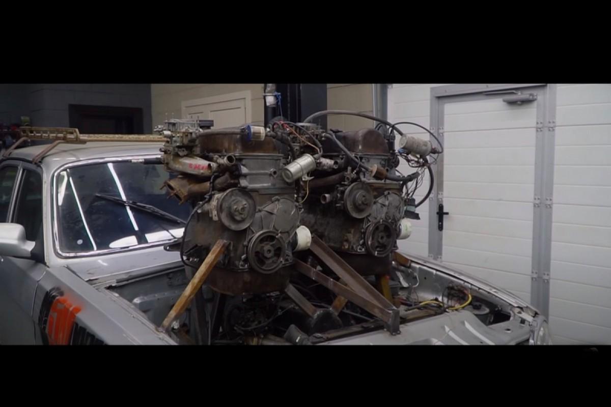 俄羅斯人狂到無極限,竟用乘法方式自製V12引擎