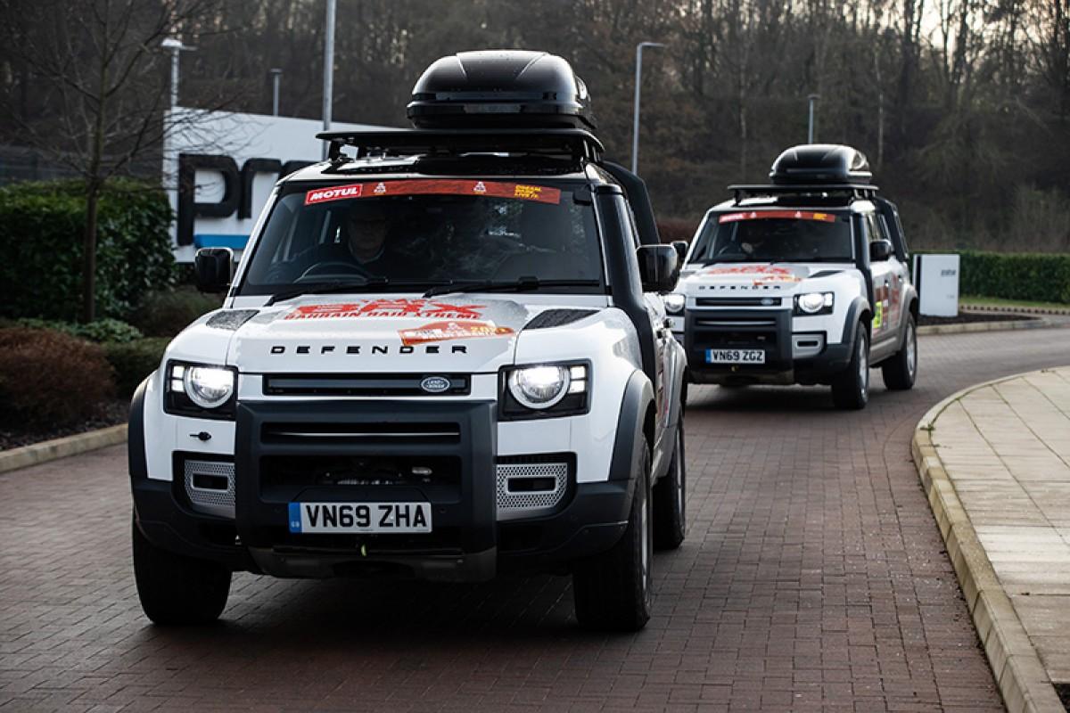 兩輛Land Rover Defender 110將擔任Bahrain Raid Xtreme車隊達卡賽事第一線後勤車!