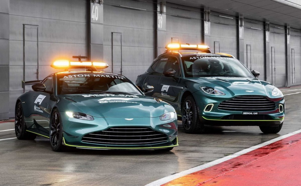 Aston Martin不僅是本賽季F1新生,也將負責前導車及醫療車任務
