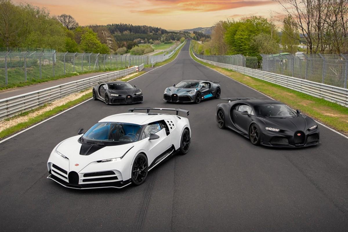 誰能比它威─Bugatti四輛總價近2000萬歐元超跑前進Nürburgring進行測試!