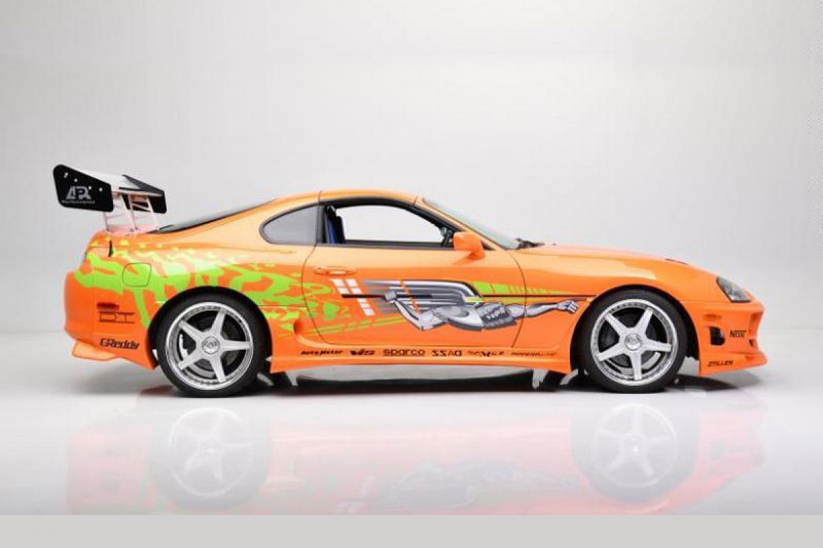 Paul Walker在《玩命關頭1》開過的Toyota Supra以55萬美元成交