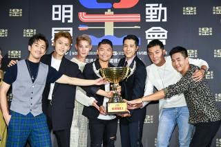 《全明星運動會》七位「選手」陳漢典(左起)、邱宇辰、夏和熙、李玖哲、胡宇威、姚元浩、柯有倫。