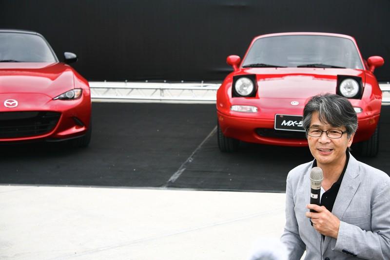 MX-5主查山本修弘也親臨現場解說新車的設計理念與思維。