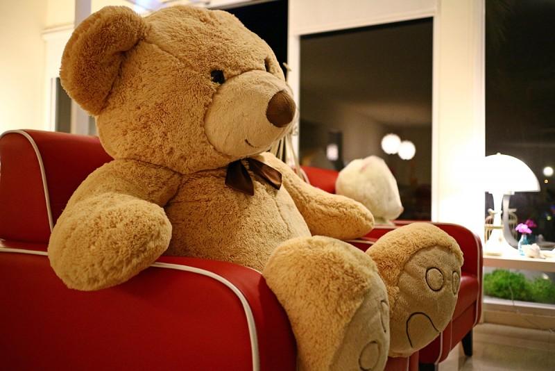 終於抵達第一天的下榻點,這間位於後壁湖附近的民宿,大廳坐著的大大微笑熊真是讓人放鬆心情的好物!