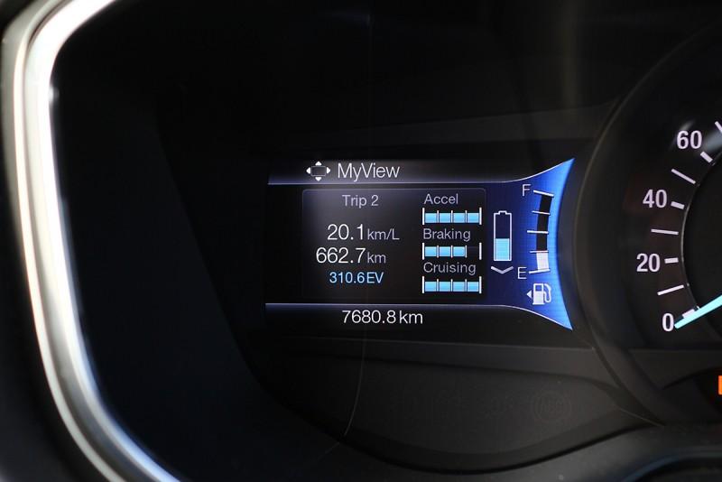 截至恆春為止,我們已經駕著Mondeo Hybrid行駛了662.7公里,平均油耗目前則為20.1km/L。