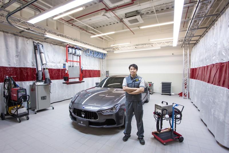 Maserati是全國唯一將所有技師送往國外原廠受訓的車商,只為了提供一流的專業服務;此外,Maserati Taiwan還擁有「全台唯一經德國TÜV認證之鋁合金修復工程師」,也打造專屬鋁合金工作站。