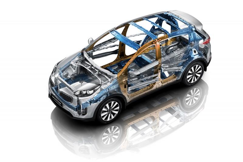 全新KIA SPORTAGE擁有同級距最高的車身剛性,甚且超越Tiguan的1.4倍。