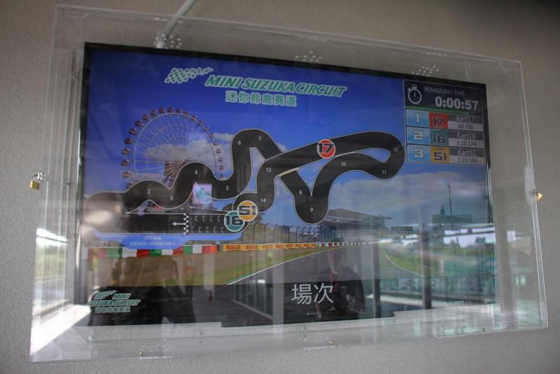 廠內多處還有能夠即時顯示車輛位置與竿位成績的大型螢幕