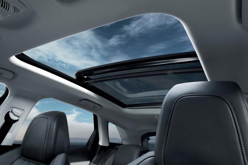 大面積玻璃車頂進化為可外開式天窗