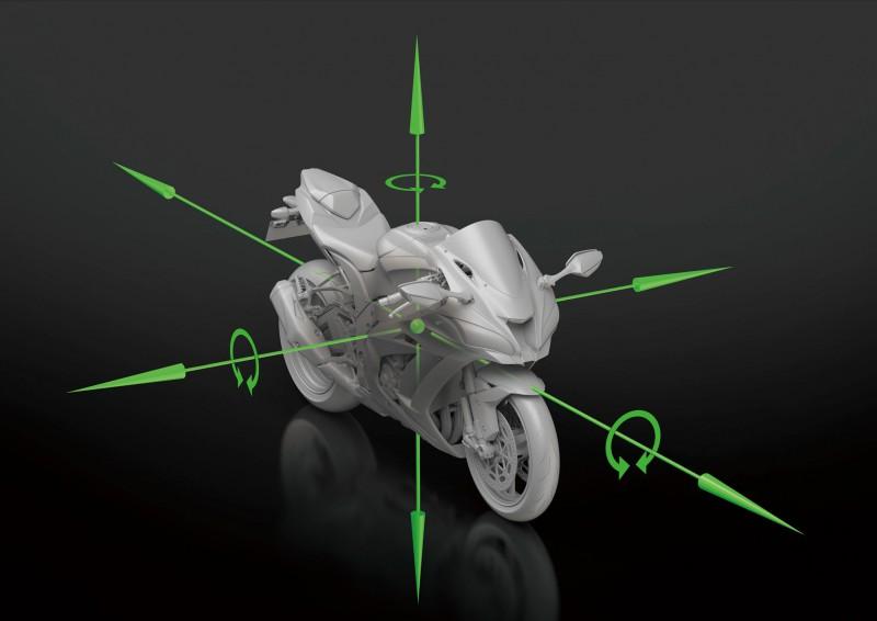 Bosch提供的IMU單元僅重40g,搭配車上的感知器可反應車輛最真實的狀況。