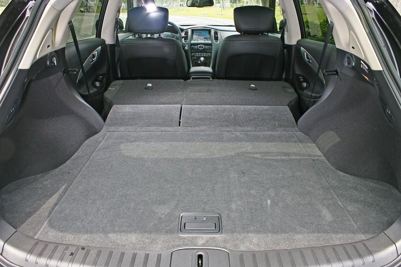 QX50輕輕鬆鬆便可以放大縮小行李廂的空間容積。