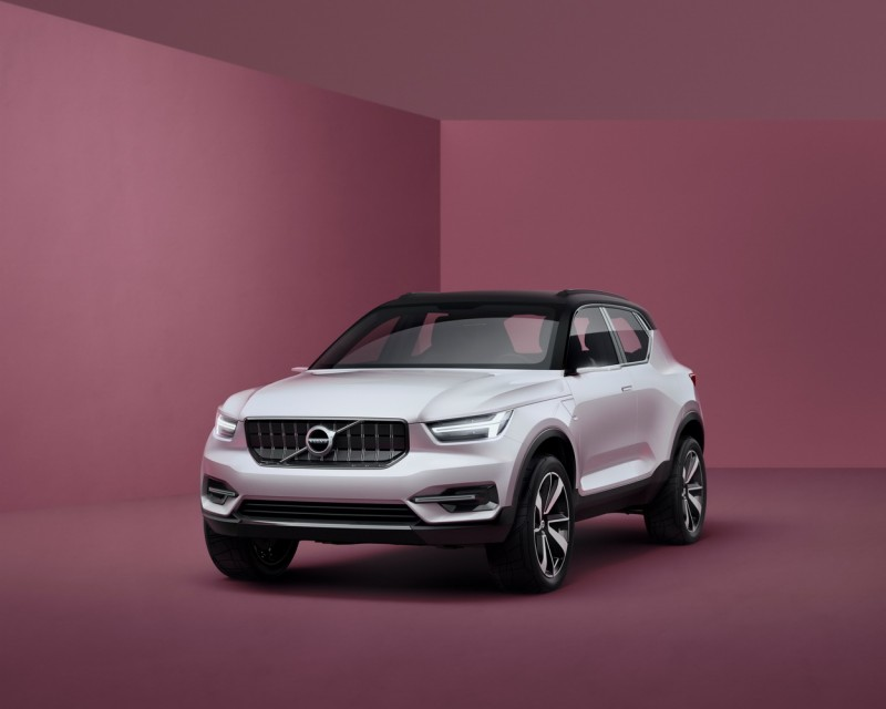 VOLVO Concept 40.1或可稱為XC40,一副具體而微的SUV模樣,對著X1、GLA、Q3來勢洶洶
