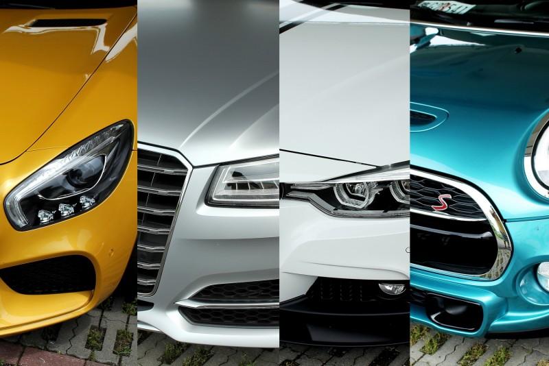 四輛車各自有不同級距定位與外貌