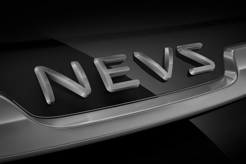 所以,以後NEVS所製造的9-3電動車將不再使用Saab字樣,而採取圖中的新識別招牌。