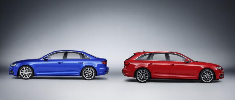 The new Audi A4外觀延續一貫緊湊俐落的基調,憑藉著Audi原廠研發團隊精準的設計筆觸,為這部四環品牌的重量級作品,完美揉合了俐落洗鍊的絕美身形。