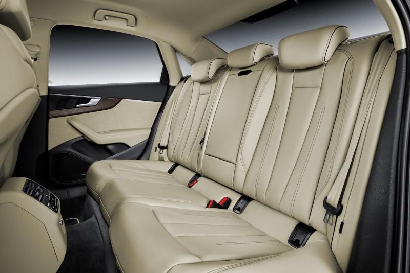The new A4 / A4 Avant擁有傲視同級車款、最寬敞舒適的座艙乘坐空間