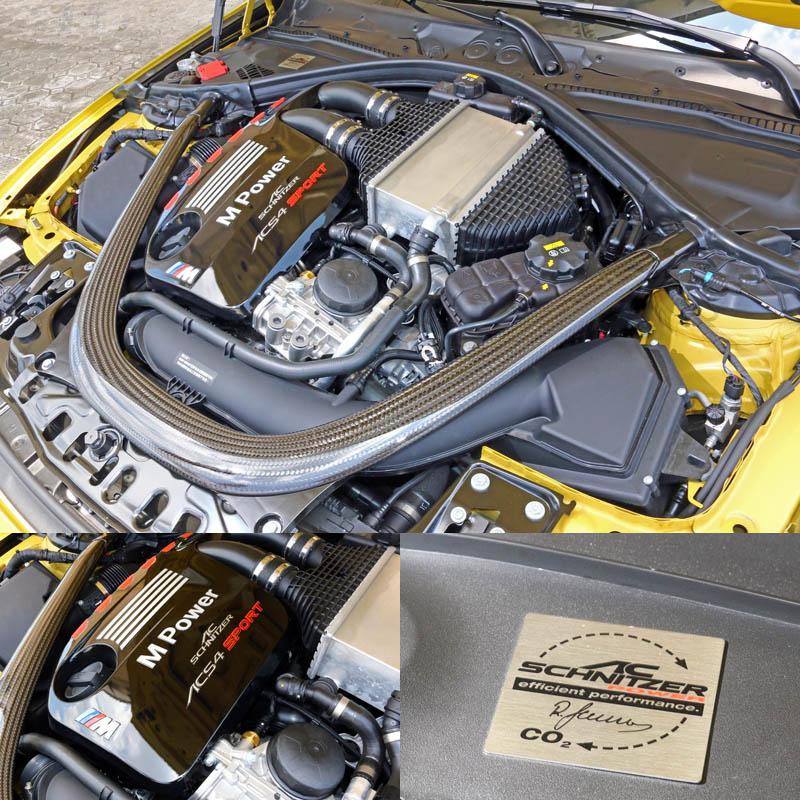 三一國際為這輛示範車換上了彩繪引擎上蓋與引擎專屬銘牌,凸顯經過AC Schnitzer動力強化。