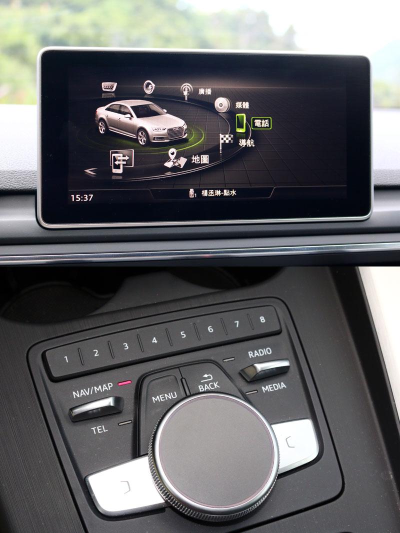 全新MMI界面在整合功能快捷鍵與觸控面板後,操作便利性大幅提升。