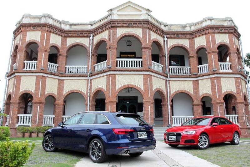 日據時代知事官邸目前是餐廳,在古蹟洋樓裡用餐別有一番風情,A4 Avant車尾線條更顯修長優美