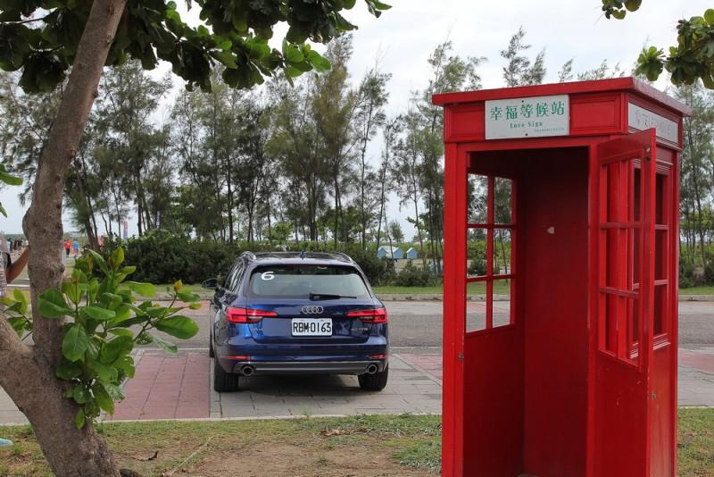 台灣景點總愛玩些小浪漫,仿倫敦電話亭也是其中一招