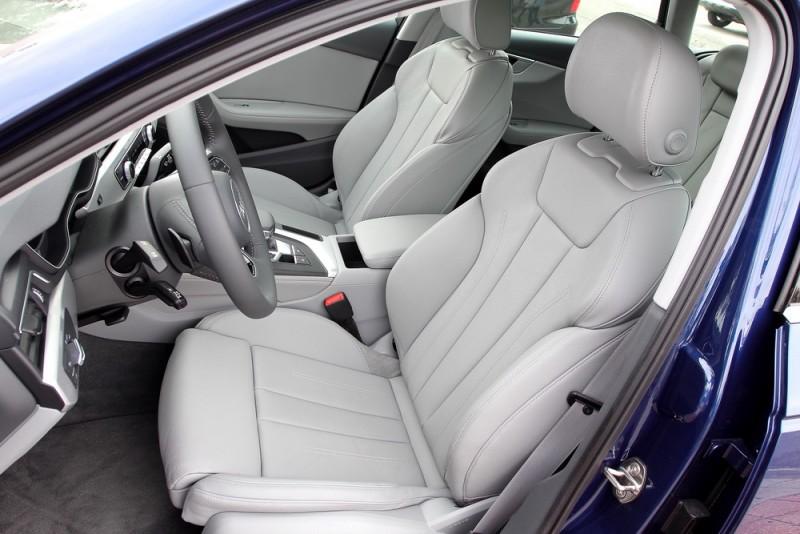 前座椅擁有Audi向來堅持的包覆性以及可調伸縮腿托,對於最佳化駕駛姿勢很有幫助