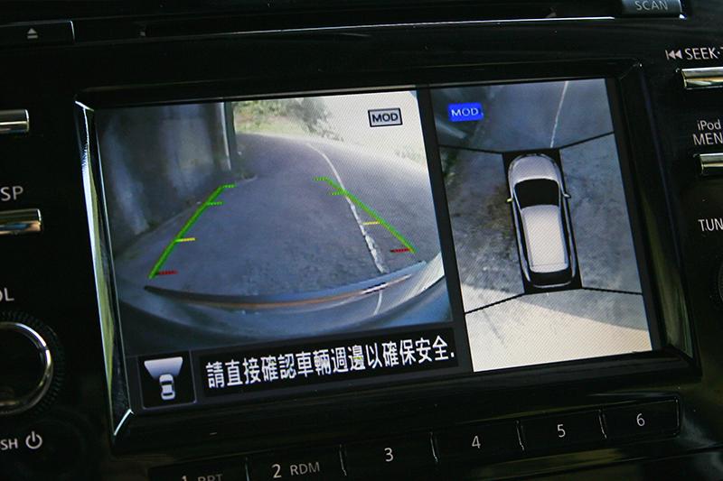 附MOD移動物體偵測功能的AVM 360度環景影像系統,可讓停車時可能發生的意外發生機率降至最低。