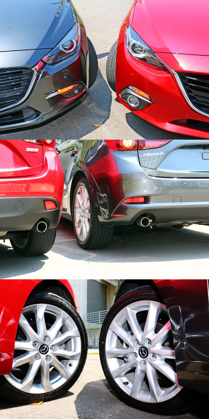 原廠設計師利用細微修飾,讓改款後Mazda3顯得較為內斂些。