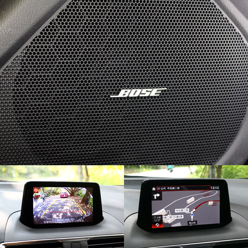 BOSE音響系統、中文衛星導航系統與倒車顯影系統都是旗艦版的標準配備。