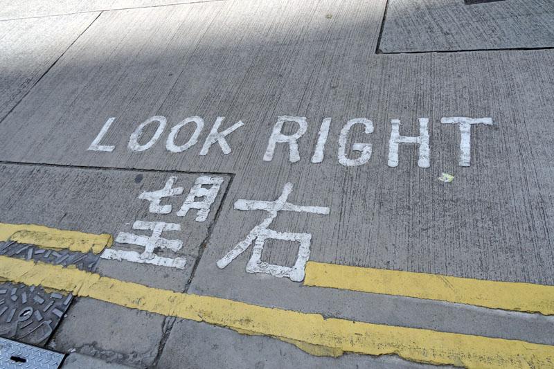 只要向著指示看車,就不用擔心車會打哪來,撞到你了!