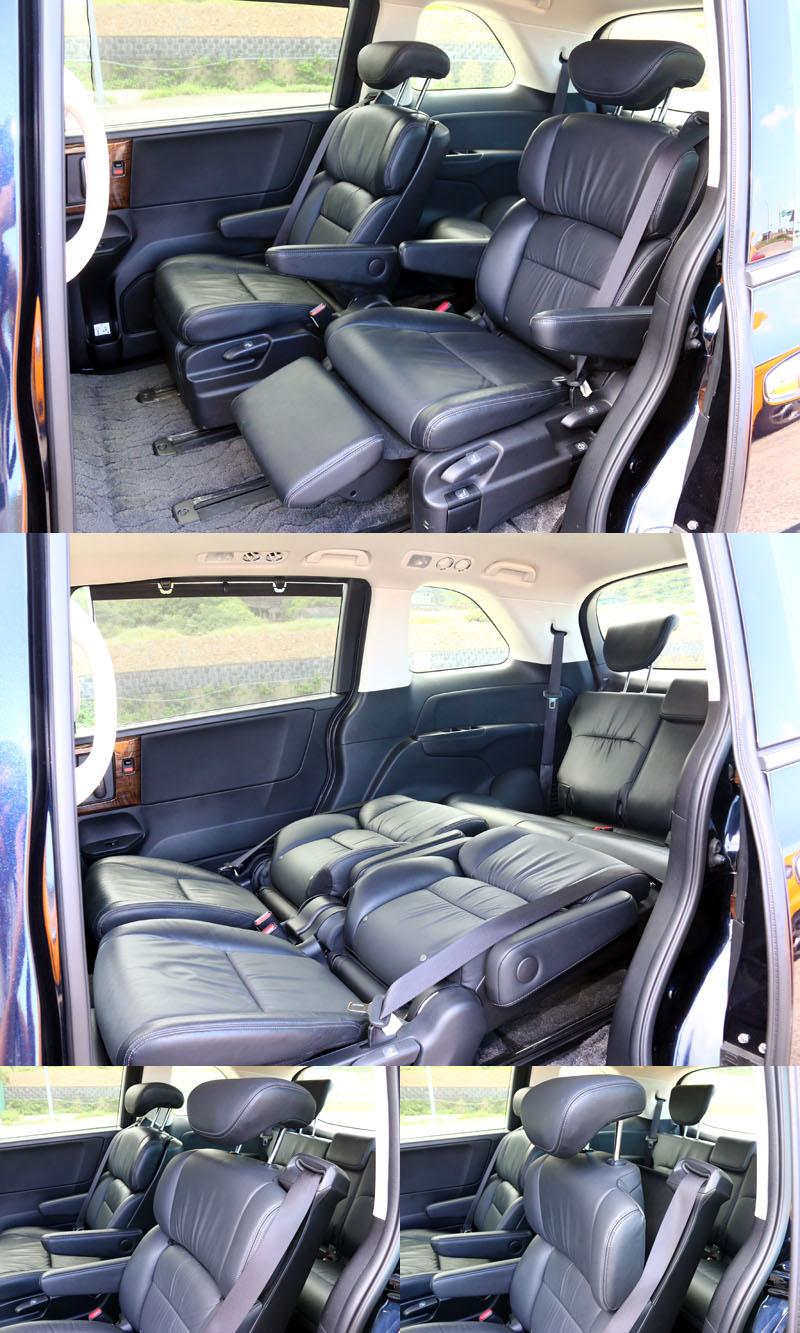 第二排的「極」尊榮全舒展式舒壓座椅是整輛車的精華所在,具備多項調整功能,其中椅背上節肩部角度調整是最具特色的部分。