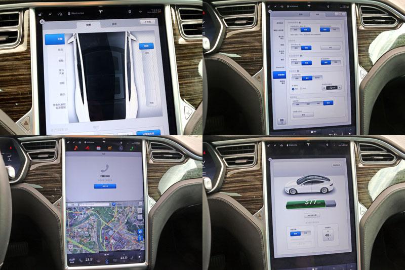 Model幾乎所有各項功能設定都由這面17吋的觸控螢幕與多功能資訊系統負責。