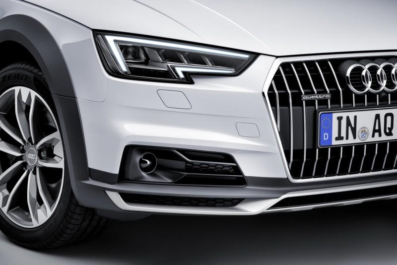 大燈同樣採用LED照明,直瀑水箱罩與霸氣的保桿金屬下護板讓A4 Allroad Quattro更顯得孔武有力