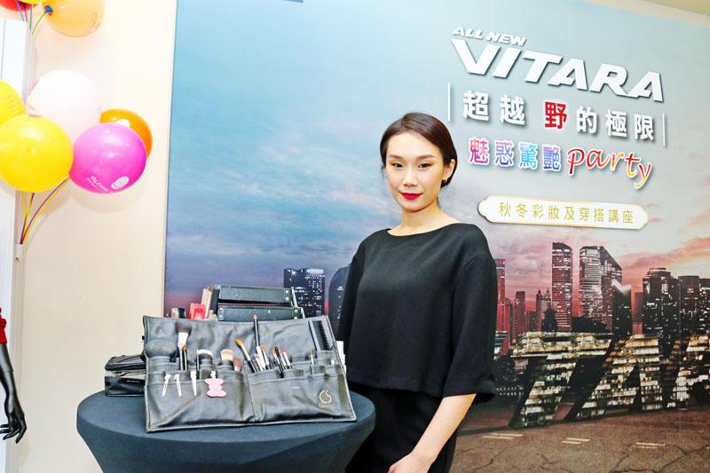 本次活動邀請M.C studio 國際彩妝造型總監 Michelle Chang親自為到展示間的車主介紹與彩妝示範。