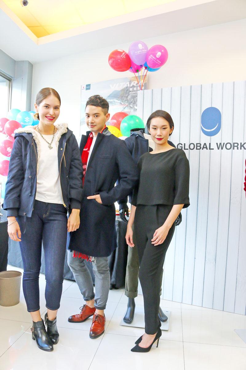 【北區活動場次】也與日本「Global Work」服裝品牌合作,展出最新的秋冬服裝與流行趨勢。