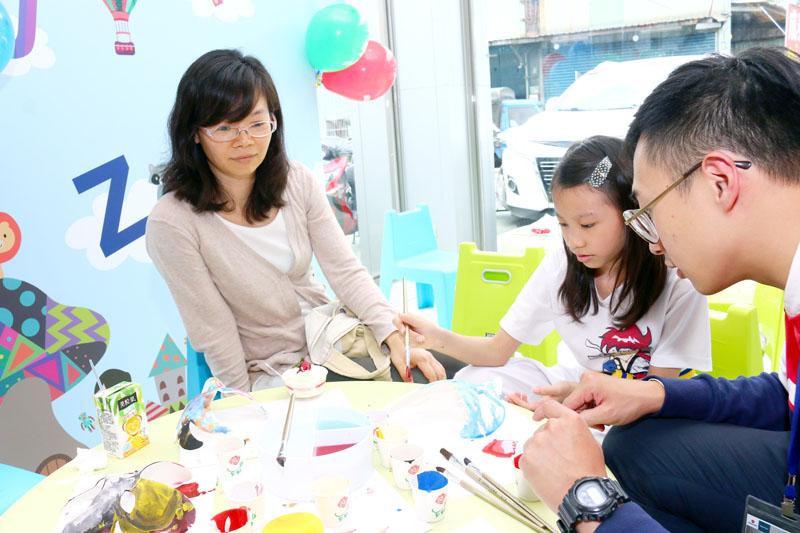 活動現場也安排了親子同樂活動,可讓參與者全家一起共度假日午後時光。