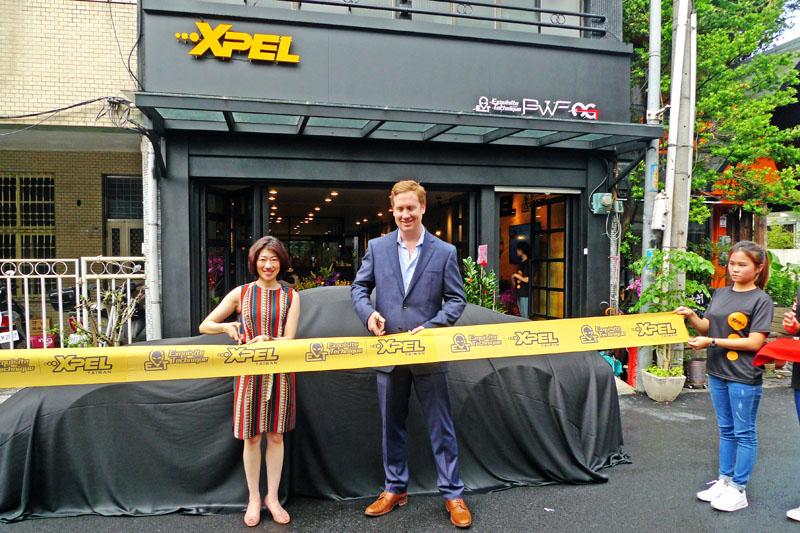 XPEL台灣新總部開幕,總裁Ryan Pape特地來台參與剪綵。