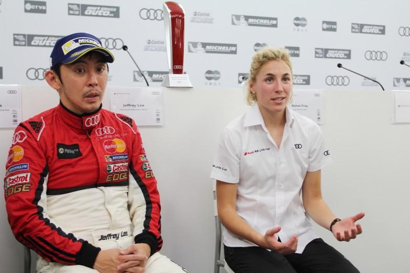 記者會最後Rahel與李勇德都認為新一代R8賽車在各方面都有明顯進步