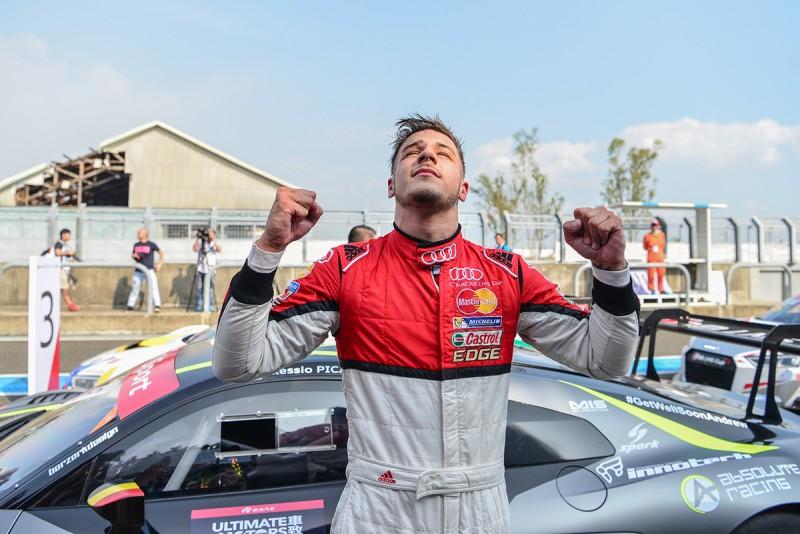 來自MGT Team by Absolute的Alessio Picariello,在2016 Audi R8 LMS Cup台灣站賽事週末同時榮登第二回合冠軍和年度車手總積分榜首,大鵬灣國際賽車場同時見證了這位比利時小將本賽季賽事首勝。