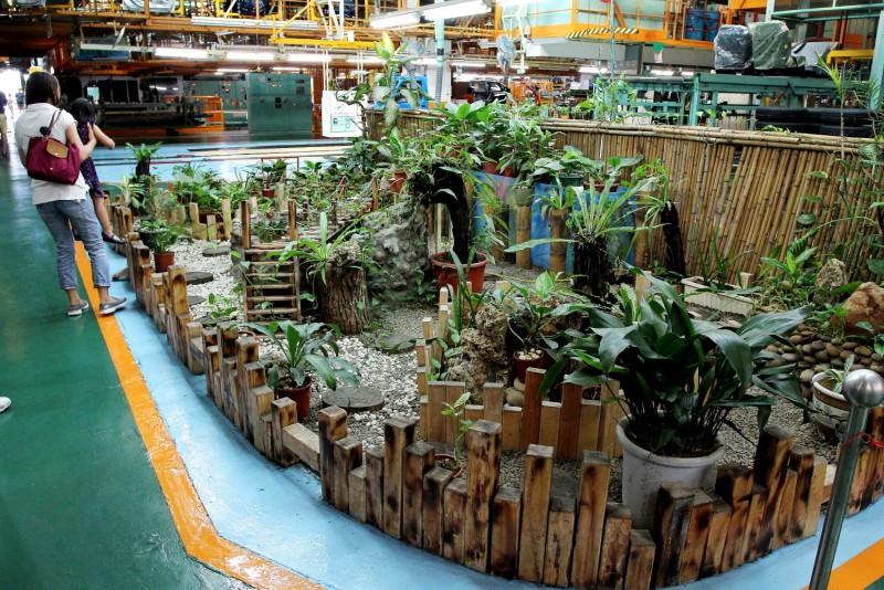 綠能小站以廠區廢料搭建而成