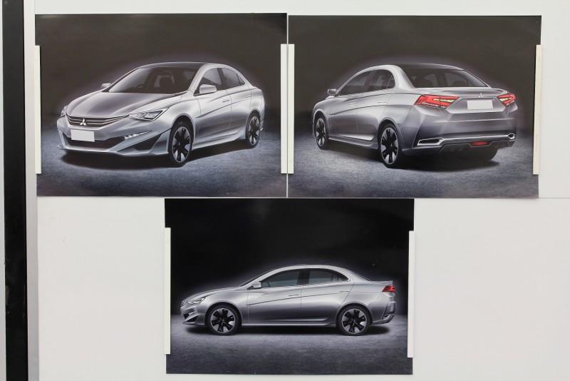 D設計案:研發中心造型所公佈了四款新Lancer方案,究竟哪一種會勝出量產呢??