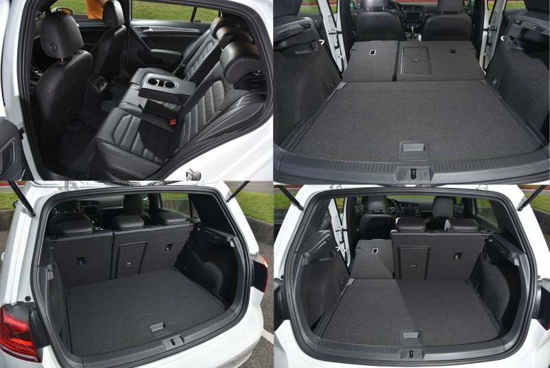 後座質感與前座同步,空間變化是掀背車才有的優勢
