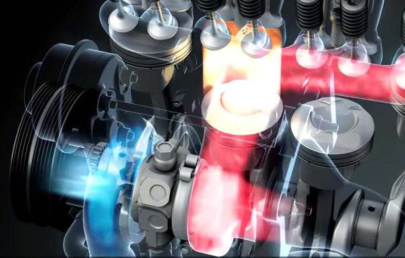 BOOSTERJET引擎能夠透過廢氣所推動的轉子壓縮新鮮空氣加速導入燃燒室之中,配合完美的噴油量估算後,達成引擎燃燒效率最佳化的目標。