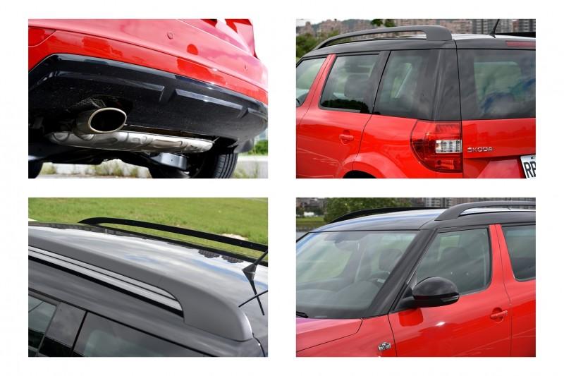 車窗腰線以上都採用亮黑烤漆,B柱保留具備防盜功能的獨特圓角造型