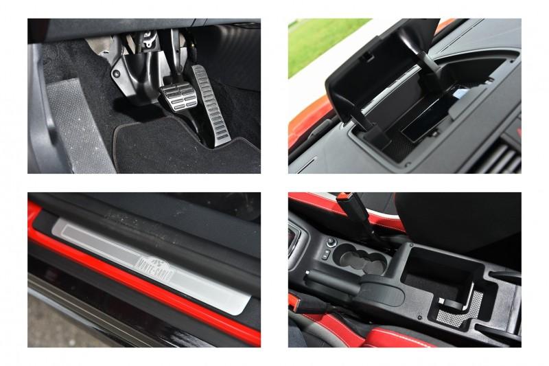 金屬踏板與專屬門檻飾板彰顯出特仕車身份