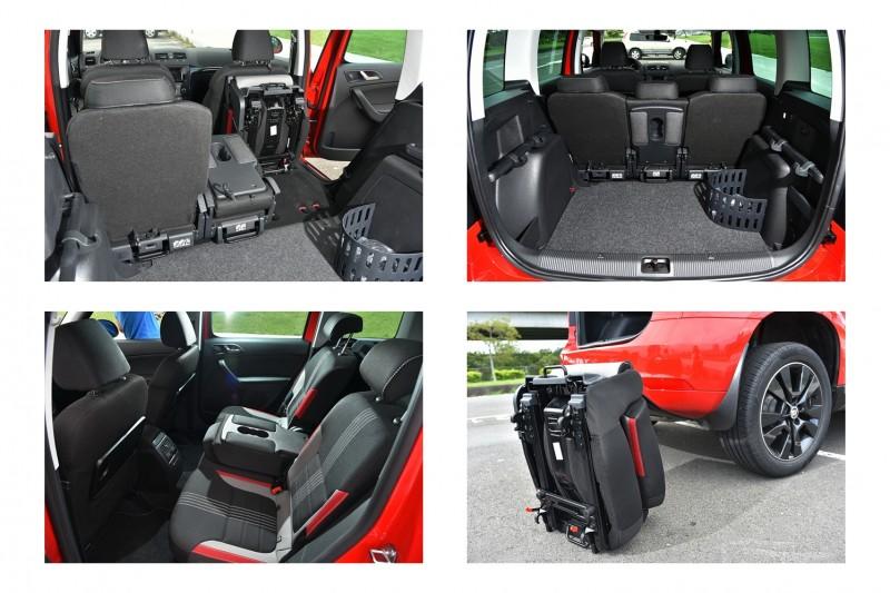 依需求後座也能前倒、上掀或是拆下帶離車內