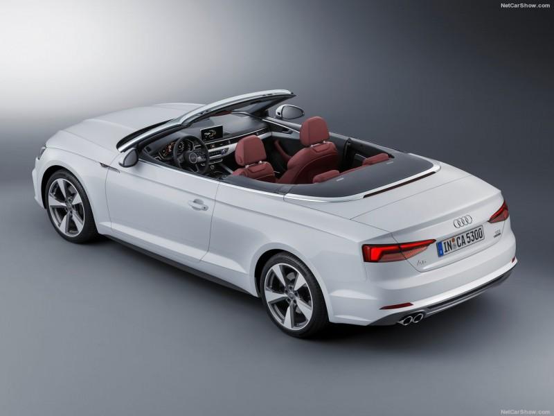 A5/S5 Cabriolet的前檔A柱與車艙外圍都遵循傳統以鋁合金飾板圍繞