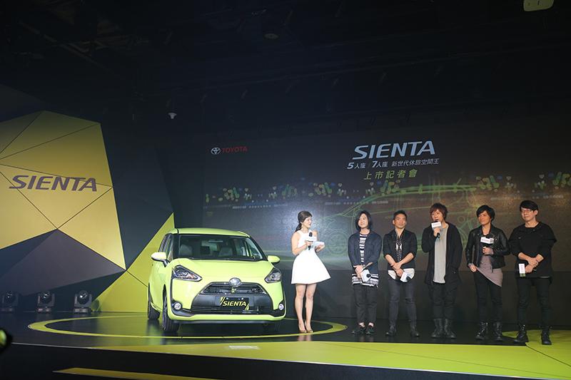 全新Sienta請到天團五月天擔任品牌大使與代言人。