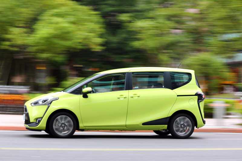 Sienta在行路質感上幾乎是Toyota所有國產車中最好的。