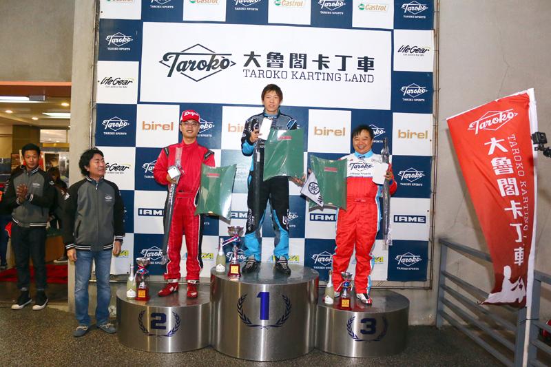 YAMAHA SL錦標賽前三名:井上雅貴、鍾承祐與黃建誠。